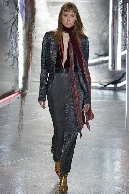 rodarte- from office to cocktail, lurex seventies glam look. photo Indigital